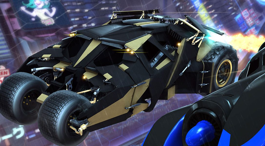 Готовы сесть за руль Бэтмобиля в Rocket League на PS4?