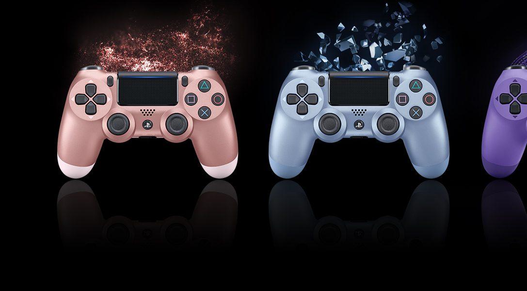 Четыре новые расцветки контроллеров Dualshock 4 будут доступны уже осенью