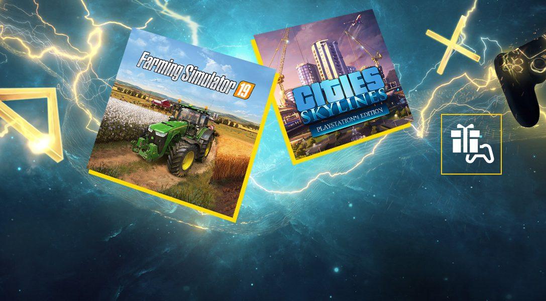 Май в PlayStation Plus: Farming Simulator 19 и Cities: Skylines