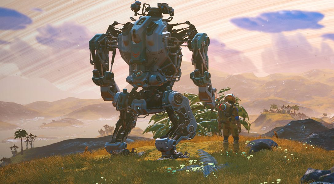 Новое бесплатное обновление добавляет в No Man's Sky огромных роботов