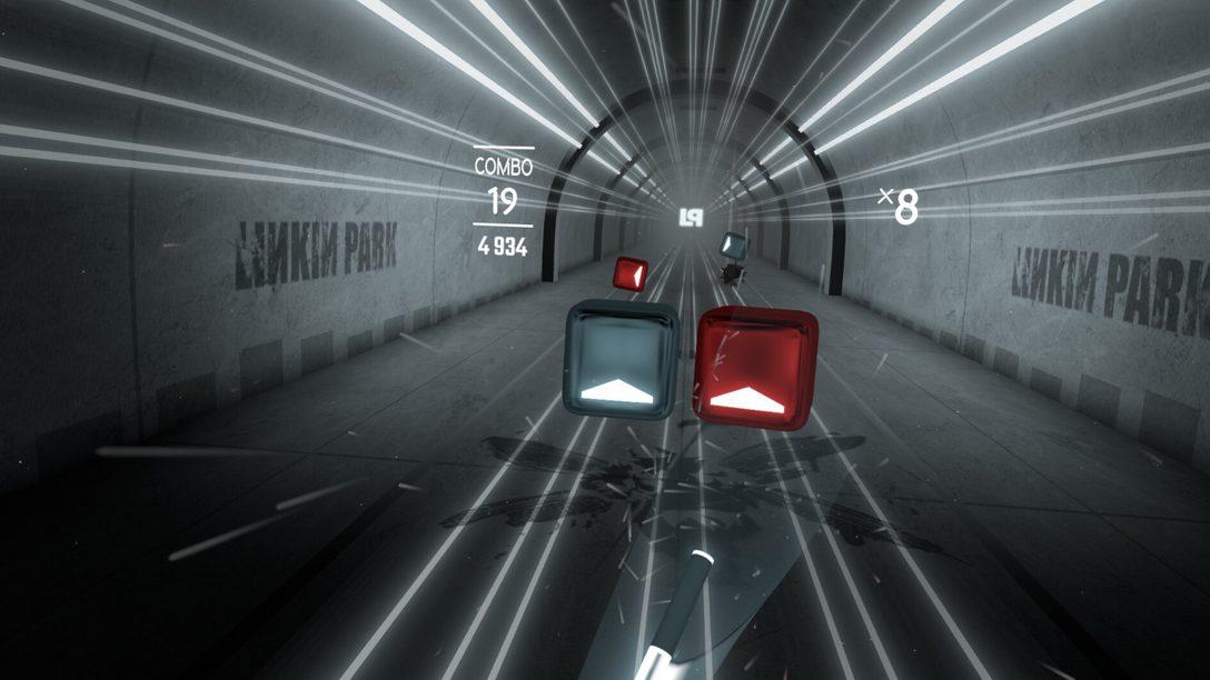 Музыка Linkin Park ждет вас в Beat Saber