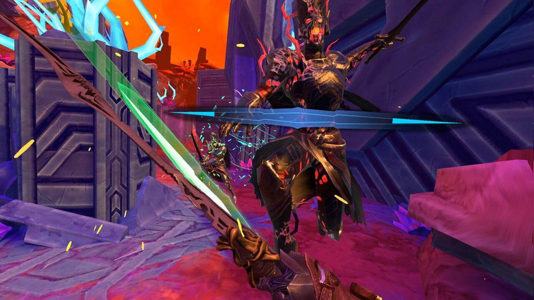 Стань богом меча в Until You Fall на PSVR