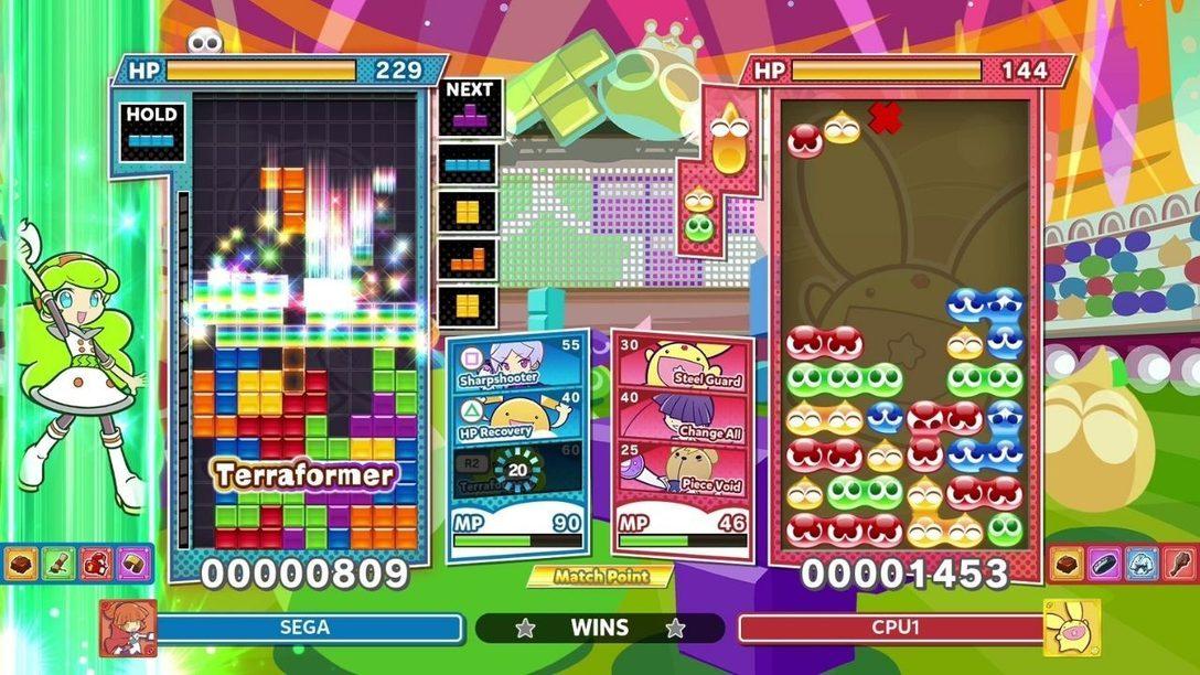 Погрузитесь в режим Skill Battle в игре Puyo Puyo Tetris 2
