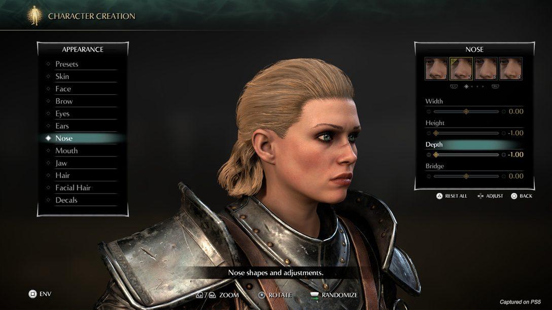 Первый взгляд на редактор персонажей и фоторежим в Demon's Souls
