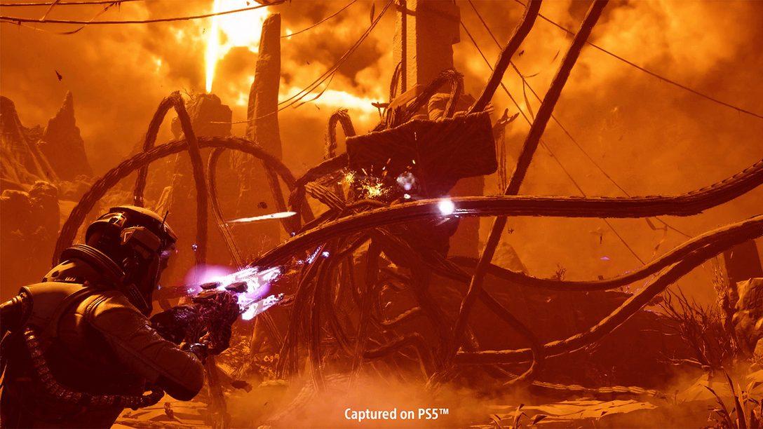 Модифицируемое оружие, загадочные инструменты и рискованные эффекты: подробности о боевой системе Returnal